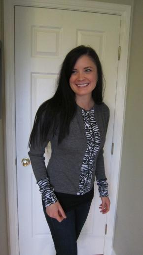 Zip up + Wool Sweater–> Cardigan ZipUp