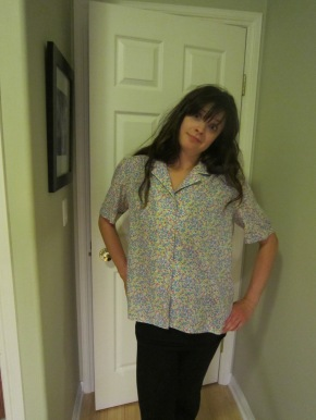 Frumpy button up shirt transformation